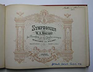 Symphonien von W. A. Mozart für Pianoforte zu vier Händen (Band I und II) : Arrangirt [arrangiert] ...