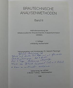 Brautechnische Analysenmethoden, Band I bis IV (4 Bände) : Methodensammlung der Mitteleuropäischen ...