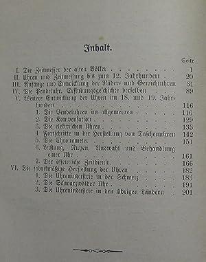 Die Uhren : Ein Abriß der Geschichte der Zeitmessung : (Reihe: Benzigers ...