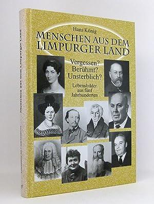 Menschen aus dem Limpurger Land, Band 1 [I] : Lebensbilder aus fünf [5] Jahrhunderten : (Reihe: ...