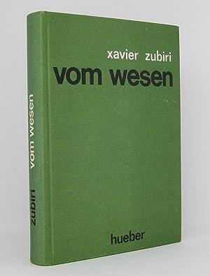 Vom Wesen: Zubiri, Xavier