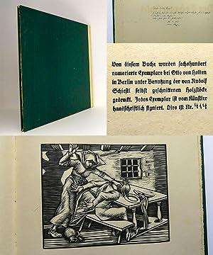 Der Tod von Basel : Acht Holzschnitte von Rudolf Schiestl zu dem alten Volksliede : (SIGNIERTE ...