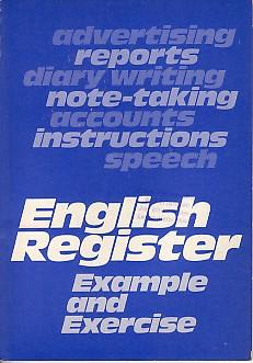English Register. Example and Exercise.