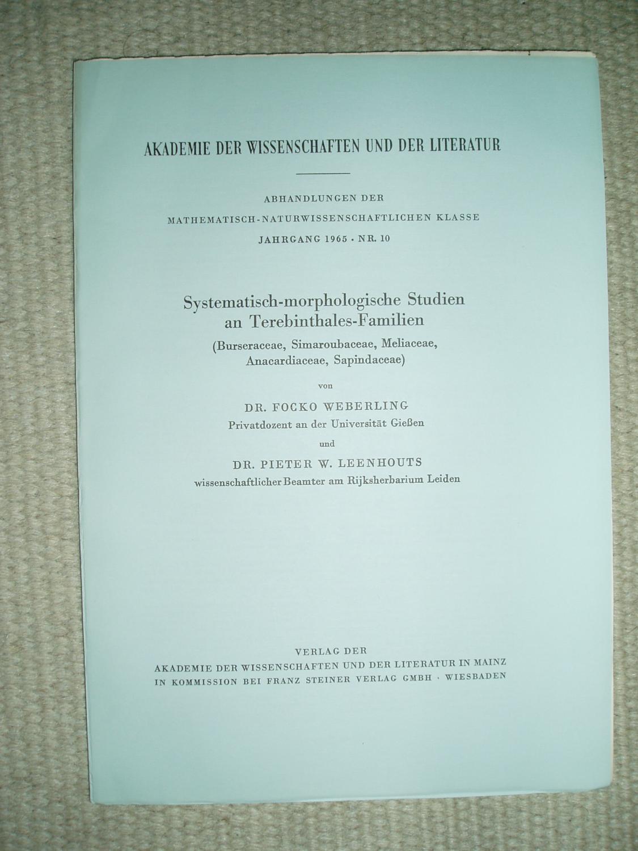 Systematisch Morphologische Studien An Terebinthales Familien Burseraceae Simaroubaceae Meliaceae