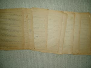 a 55-page typed fragment of a novel