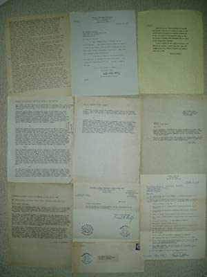 9 typed pages [letters, etc] ca. 1951-1968