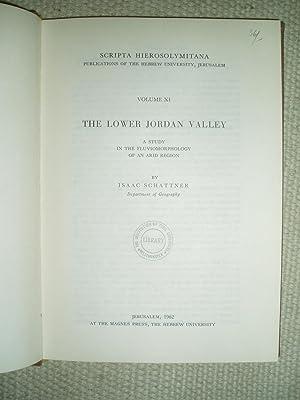 The Lower Jordan Valley : A Study: Schattner, Isaac [1900-1981]