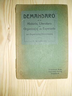 Demandaro pri la historio, literaturo kaj organizajoj: Ladeveze, R. de