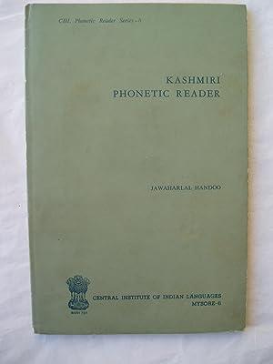 Kashmiri Phonetic Reader: Handoo, Jawaharlal