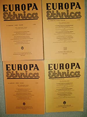 Europa Ethnica: Vierteljahresschrift für Nationalitätenfragen [a collection of 21 issues, ca. 1971-...