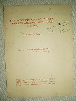 The Economy of Afghanistan during Amanullah's Reign,: Guha, Amalendu