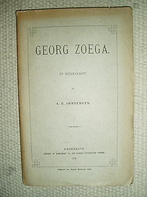 Georg Zoega : Et mindeskrift: Jørgensen, Adolf Ditlev [1840-1897]