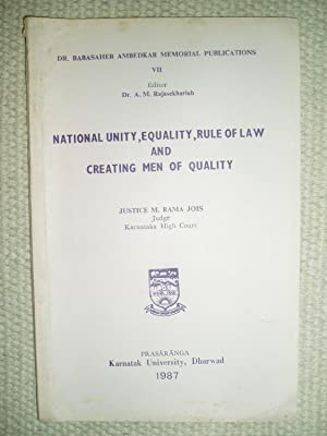 National Unity, Equality, Rule of Law, and: Rama Jois, M.