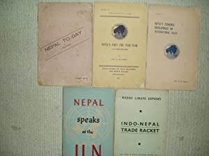 5 pamphlets concerning Nepal, ca. 1950-1968: various [Nepal]