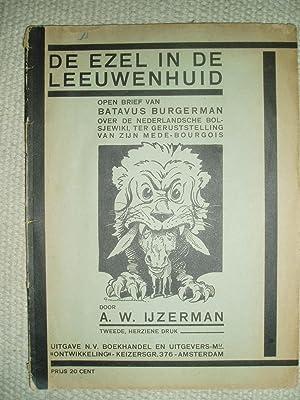 De ezel in de leeuwenhuid : open: IJzerman, Arie Willem