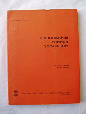 Hindi-Kashmiri Common Vocabulary: Handoo, Jawaharlal ;