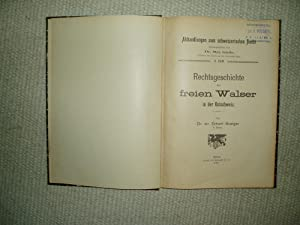 Rechtsgeschichte der freien Walser in der Ostschweiz: Branger, Erhard