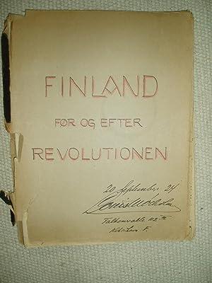 Finland Før og Efter Revolutionen: Mølholm, Louis [1881-1960]