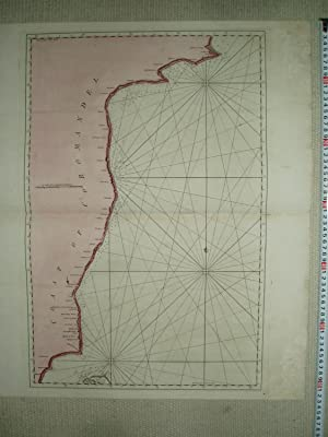 an 18th-Century colored engraved map of the Coast of Coromandel, size 63x53 cm.: anonymous [...