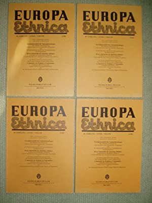 Europa Ethnica. Quarterly for Problems of Nationalities. 40. Jahrgang, nrs 1; 2; 3; 4 - 1983: ...