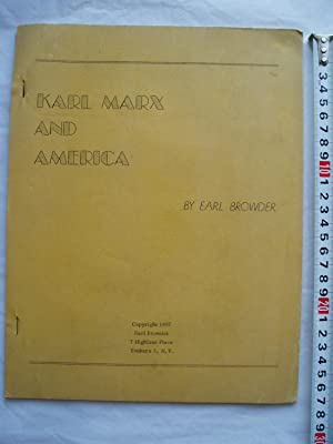 Karl Marx and America [lectures]
