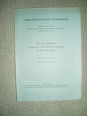 Über die Luftdruck-, Temperatur- und Windschwankungen in der Stratosphäre: Scherhag, Richard [1907-...