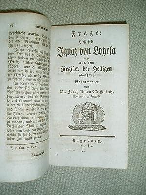 Etwas übers Kontroversieren [together with 7 other tracts of the series 'Gesammelte Schriften ...
