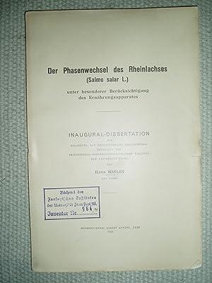 Der Phasenwechsel des Rheinlachses (Salmo salar L.) unter besonderer Berücksichtigung des ...