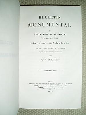 Bulletin monumental ou, Collection de mémoires et de renseignements sur la statistique ...