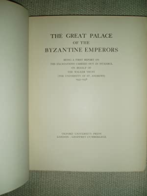 The Great Palace of the Byzantine Emperors: Brett, Gerard ;