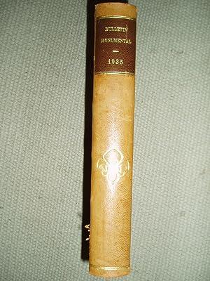 Bulletin monumental : Quatre-vingt-quatorzième volume [1935]: Société française d'archéologie