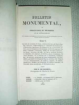 Bulletin monumental ou, Collection de mémoires et de renseignements sur la statistique monumentale ...