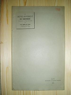 Le développement post-embryonnaire chez l'homme: De Vriese, Bertha [1877-1958]