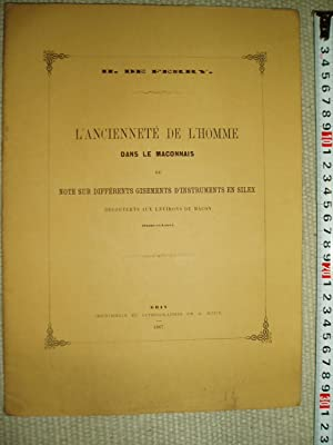 L'ancienneté de l'homme dans le Maconnais, ou note sur différents gisements d'...