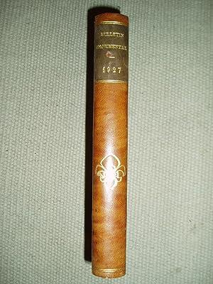 Bulletin monumental : Tome LXXXVI [1927]: Société française d'archéologie