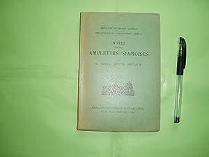 Notes sur les amulettes siamoises: Lefevre-Pontalis, Pierre