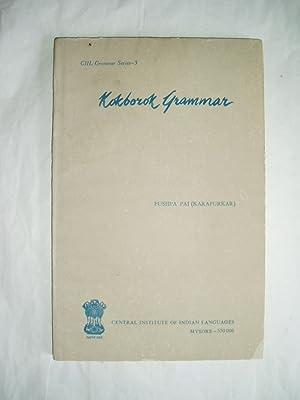 Kokborok Grammar: Pai, Pushpa (Karapurkar)