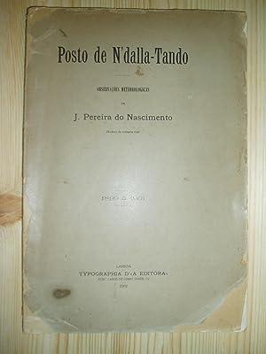 Posto de N'dalla-Tando : observacões meteorologicas, 1899-1901: Pereira do Nascimento, J.