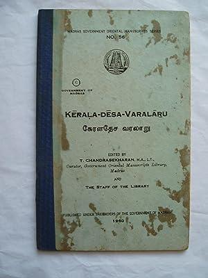 Kerala-Desa-Varalaru: Chandrasekharan, T.; editor: