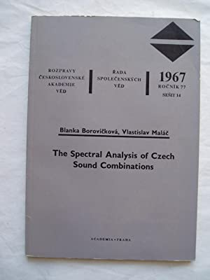The Spectral Analysis of Czech Sound Combinations: Borovicková, Blanka ; & Malác, Vlastislav