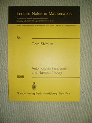 Automorphic Functions and Number Theory: Shimura, Goro