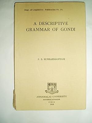 A Descriptive Grammar of Gondi: Subrahmanyam, P. S.