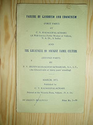 Failure of Gandhism and Communism [bound together as issued with] The Greatness of Ancient Tamil ...