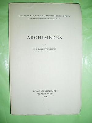Archimedes: Dijksterhuis, E. J. (Eduard Jan) [1892-1965]