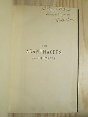 Des Acanthacées médicinales: Dethan, Georges