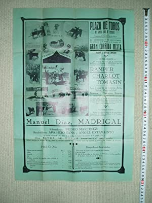 a 48x36 cm poster for a bullfight,: anonymous [Tipografia Margarit,