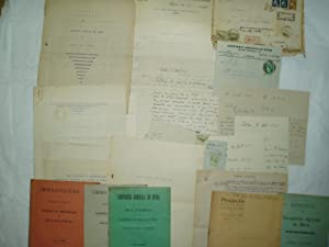 [ A collection of 19 published, typed & handwritten documents & letters relating to Companhia Agr...