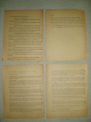 a 4-page typescript, ca. 1950s, concerning