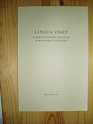 Lingua Viget. Commentationes Slavicae in Honorem V.: Vahros, Igor ;