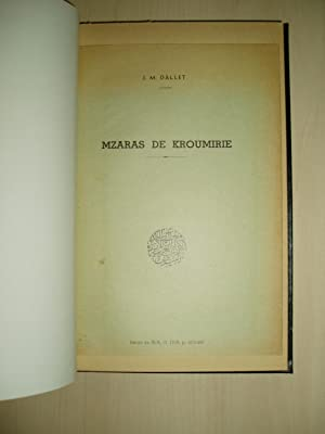 Mzaras de Kroumirie [bound together with 9: Dallet, J.M. [